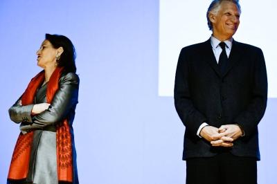 Ségolène Royal et Dominique De Villepin, le 29 janvier à Grenoble.