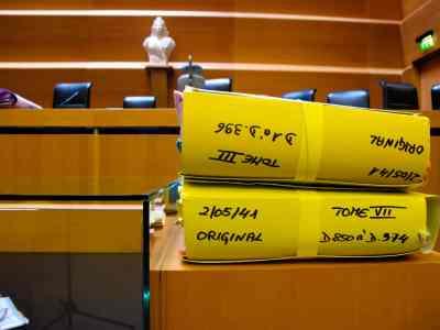La salle d'audience de la cour d'assises de Grenoble, le 31 mars.