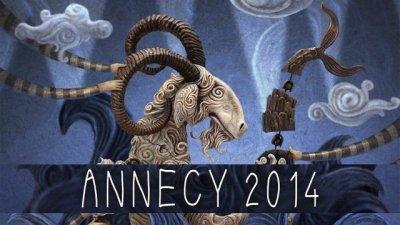 Montage de l'affiche officielle du Festival international du film d'animation d'Annecy 2014.