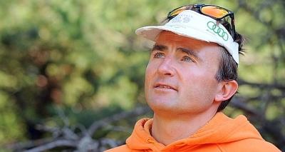 Rencontré à Sigoyer, dans les Hautes-Alpes, Ueli Steck évoque son prochain sommet (au Népal) et son déclin inéluctable (Jean-Pierre Clatot / AFP).