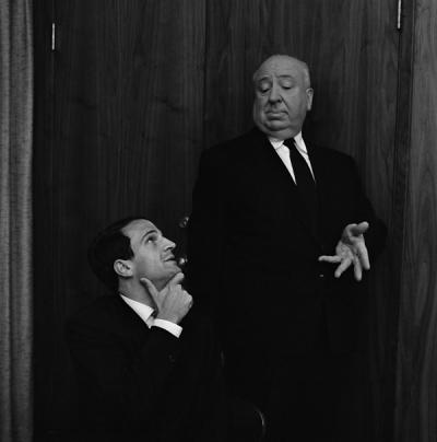 Alfred Hitchcock et François Truffaut (Philippe Halsman / Magnum).