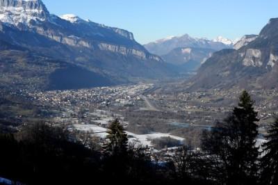 La Vallée de l'Arve et Annemasse le 7 janvier 2015 (Jean-Pierre Clatot / AFP).